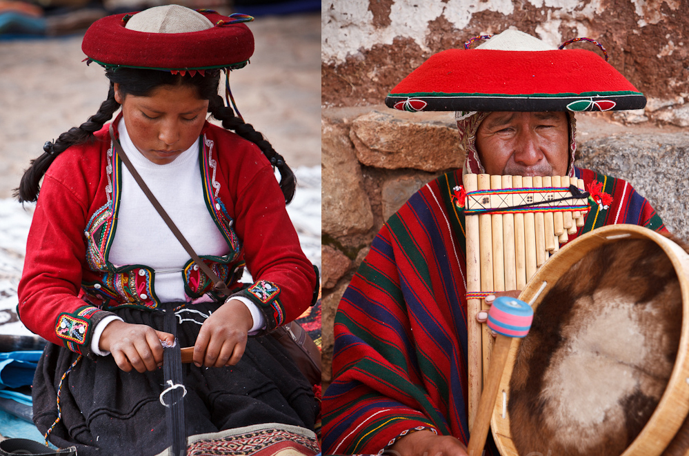 Woman weaving in Chinchero.